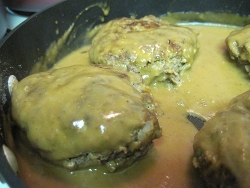 Meatloaf Patties with 3 Condiment Gravy
