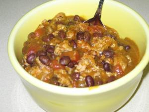 Crockpot Turkey & Black Bean Chili